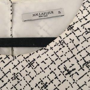 MM Lafleur Tops - MM Lafleur Didion Blouse XL White Black Print